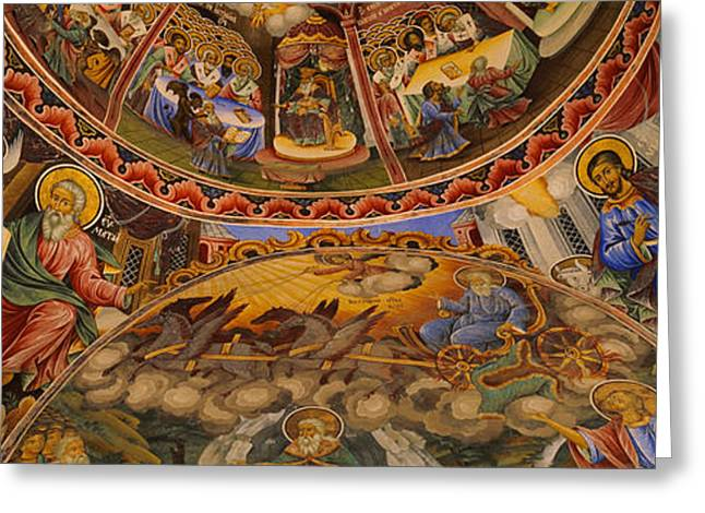 Low Angle View Of Fresco On The Ceiling Greeting Card by Panoramic Images