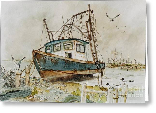 Low Tide Greeting Card by Don Hand