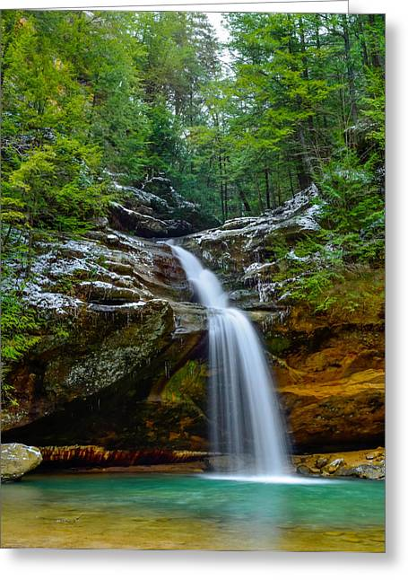 Lower Falls At Old Man's Cave Greeting Card