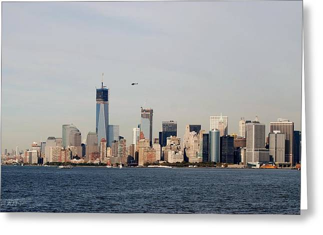 Lower Manhattan Greeting Card by Rob Hans