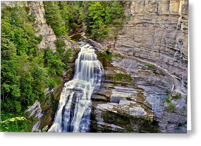 Lucifer Falls  Greeting Card by Frozen in Time Fine Art Photography