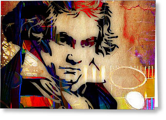Ludwig Van Beethoven Collection Greeting Card