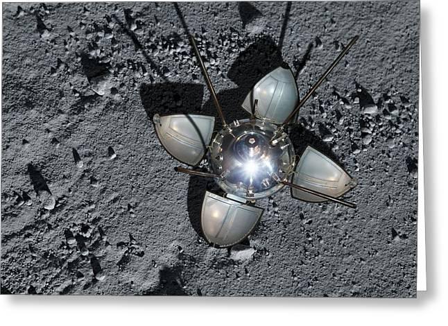 Luna 9 Landing Capsule Greeting Card