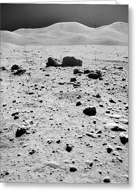 Lunar Surface Greeting Card by Nasa