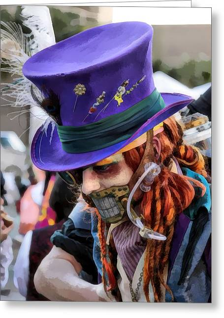 Mad Hatter Greeting Card by James Stough