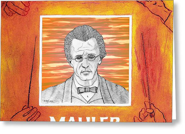 Mahler Greeting Card by Paul Helm