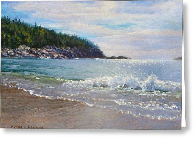 Maine Morning Greeting Card by Bonnie Mason