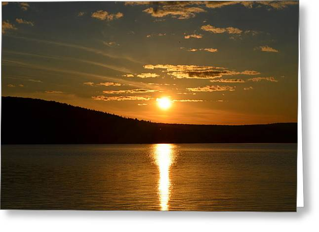 Greeting Card featuring the photograph Maine Sunset by James Petersen