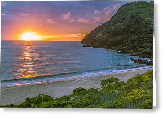 Makapuu Sunrise 1 Greeting Card