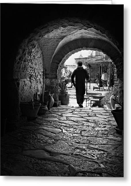 Man In An Archway / Hammamet Greeting Card