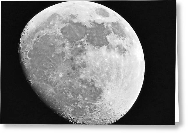 Man In The Moon Greeting Card by Tom Gari Gallery-Three-Photography