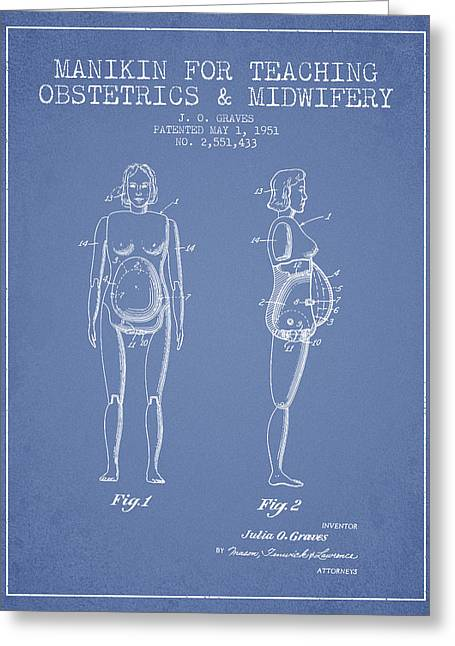 Manikin For Teaching Obstetrics And Midwifery Patent From 1951 - Greeting Card