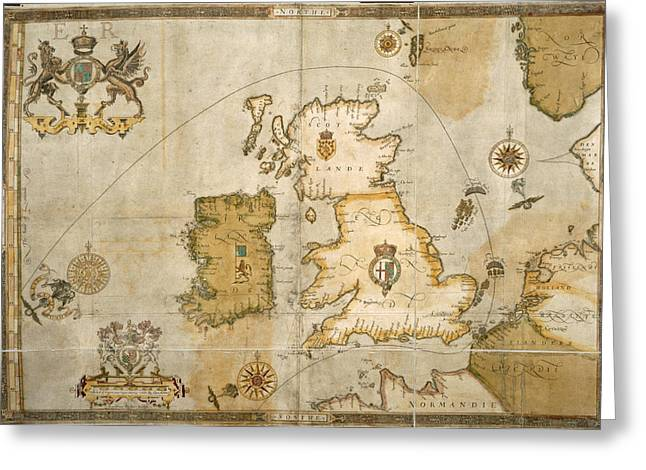 Map Of The British Isles Greeting Card by British Library