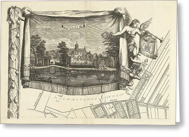 Map Of The Heerlijkheid Maarsseveen, The Netherlands Greeting Card by Philibert Bouttats