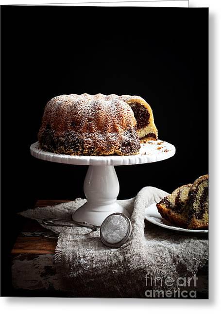 Marble Bundt Cake Greeting Card by Kati Molin