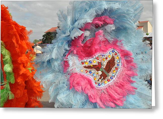 Mardi Gras Indians Greeting Card
