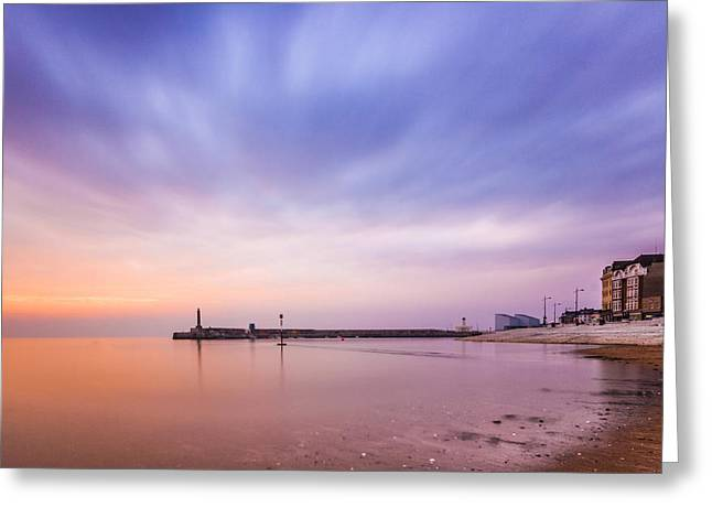 Margate Sunset Greeting Card by Ian Hufton