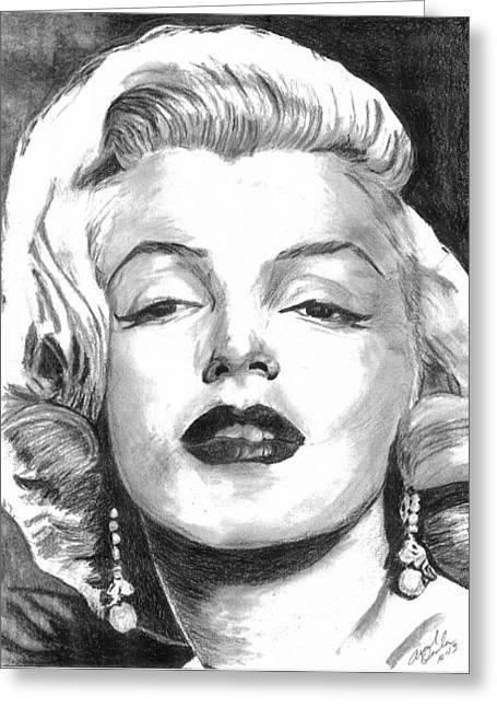 Marilyn Greeting Card by Ariel Davila