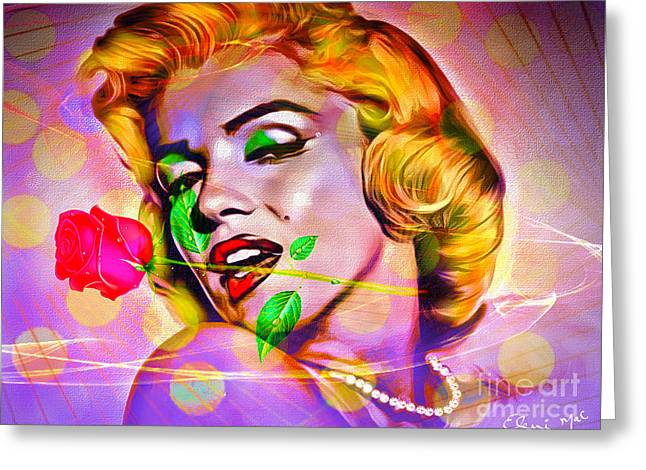 Marilyn Monroe Greeting Card by Eleni Mac Synodinos
