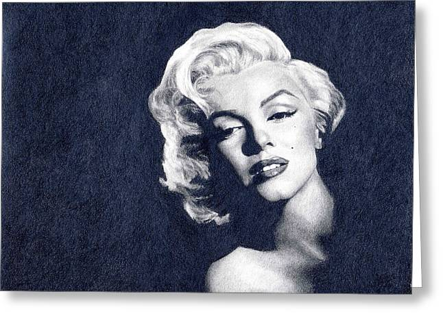 Marilyn Monroe Greeting Card by Erin Mathis