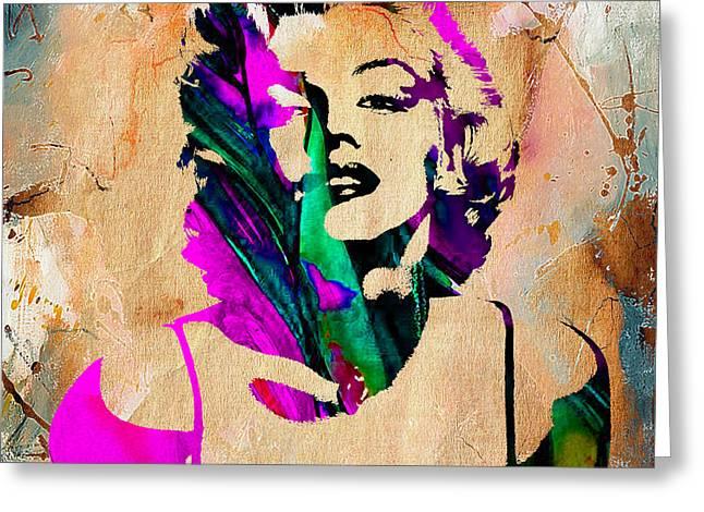 Marilyn Monroe Painting Greeting Card
