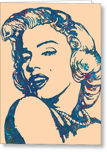 Marilyn Monroe Stylised Pop Art Drawing Sketch Poster Greeting Card
