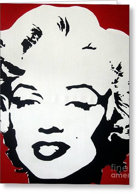 Marilyn Monroe Greeting Card by Venus