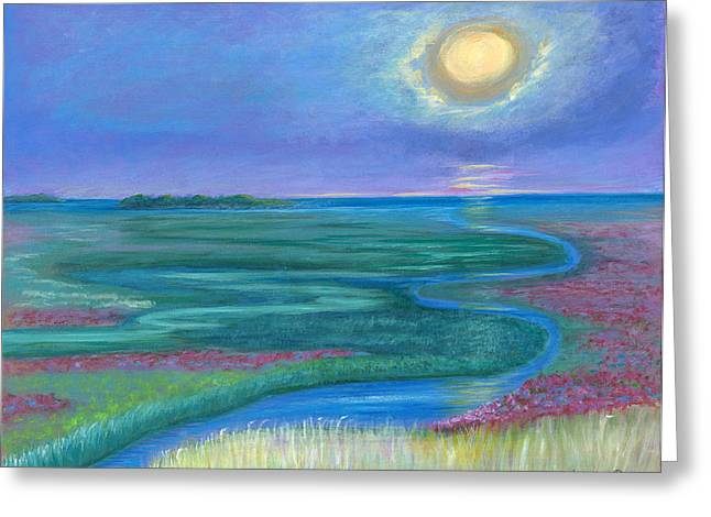 Marsh Sensations Greeting Card by Victoria Storey