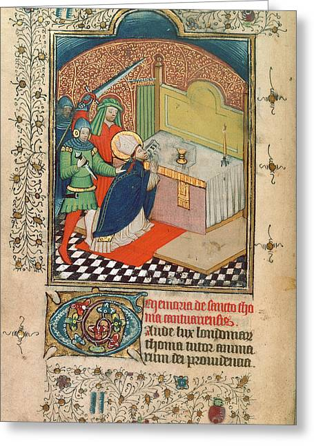 Martyrdom Of Thomas Becket Greeting Card by British Library