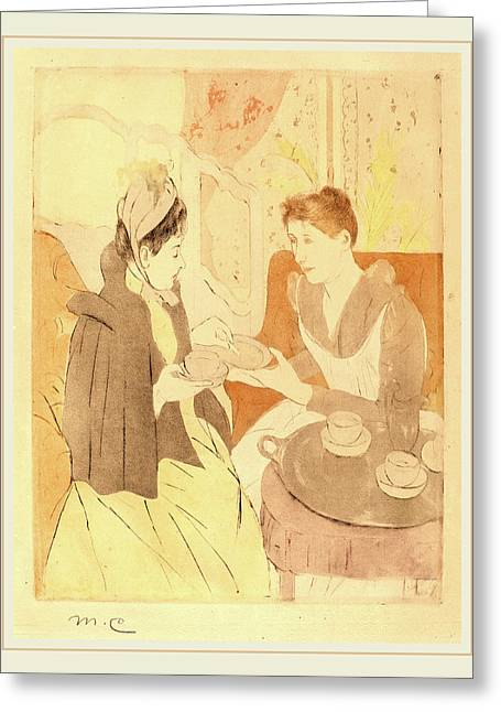 Mary Cassatt, Afternoon Tea Party, American Greeting Card by Litz Collection