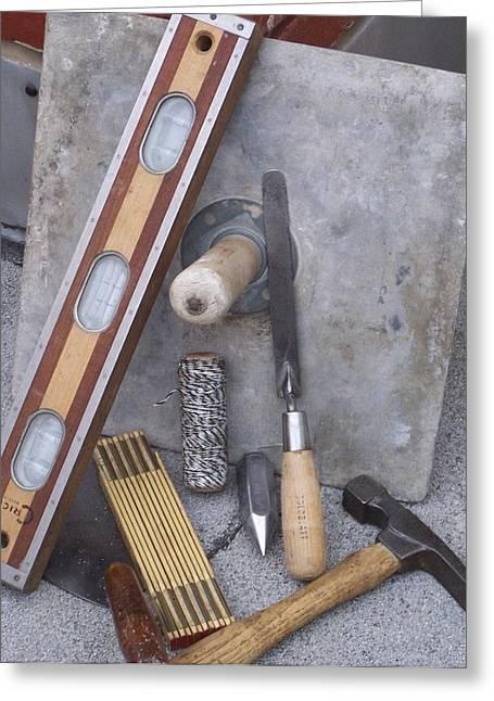 Masonery Tools Greeting Card