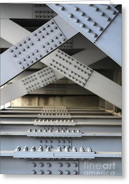 Massive Girder Bridge Greeting Card by Yali Shi