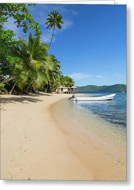 Matangi Private Island Resort, Fiji Greeting Card by Douglas Peebles