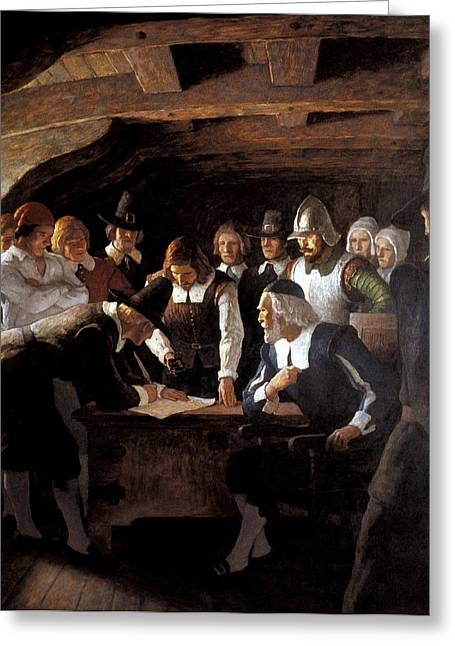 Mayflower Compact, 1620 Greeting Card