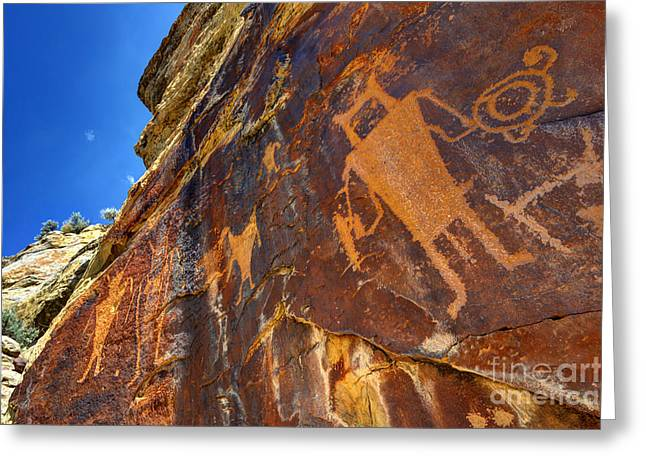 Mckee Springs Petroglyph - Utah Greeting Card