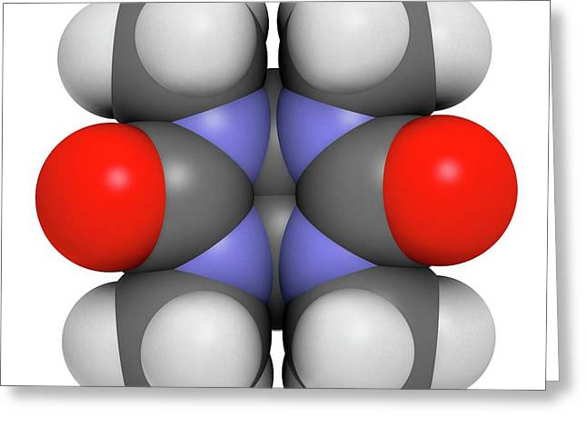 Mebicar Anxiolytic Drug Molecule Greeting Card