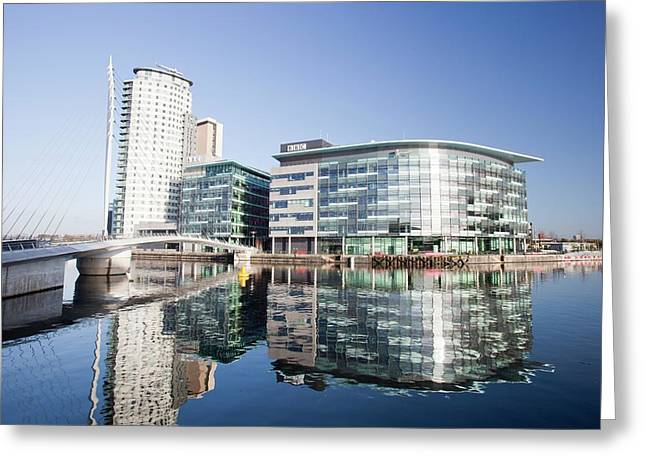 Media City Greeting Card by Ashley Cooper