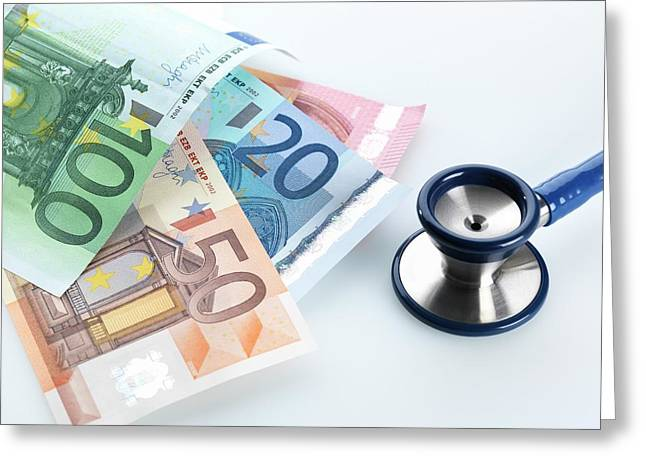 Medical Costs Greeting Card by Tek Image