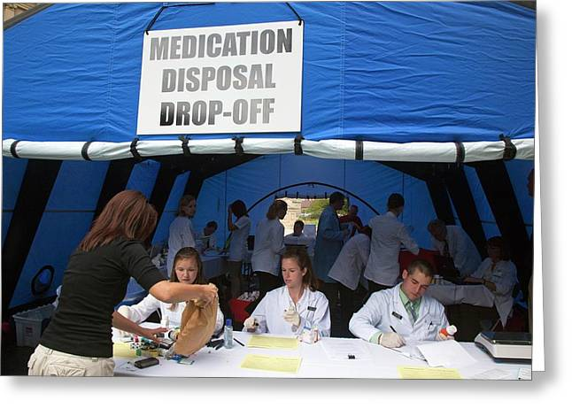 Medication Disposal Centre Greeting Card by Jim West
