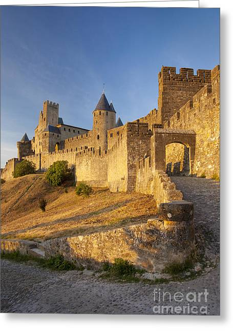 Languedoc Greeting Cards - Medieval Carcassonne Greeting Card by Brian Jannsen