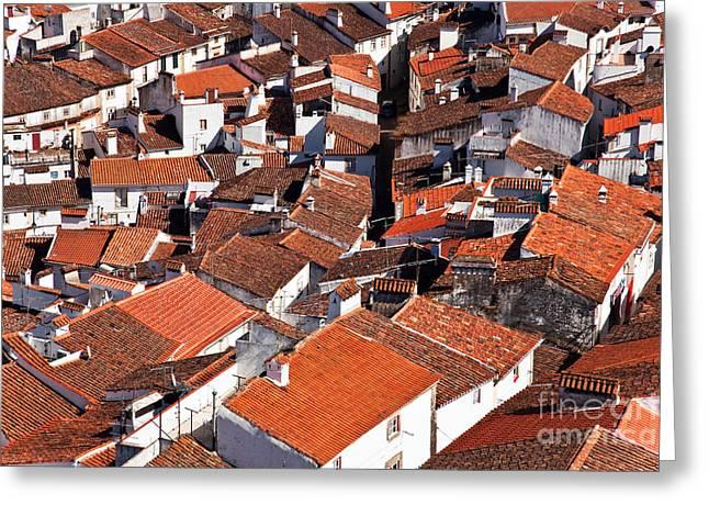 Medieval Town Rooftops Greeting Card by Jose Elias - Sofia Pereira
