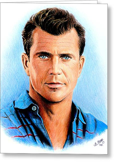 Mel Gibson Greeting Card by Andrew Read