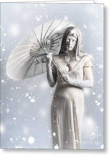 Melancholy Of Infinite Sadness. The White Vampire Greeting Card by Jorgo Photography - Wall Art Gallery