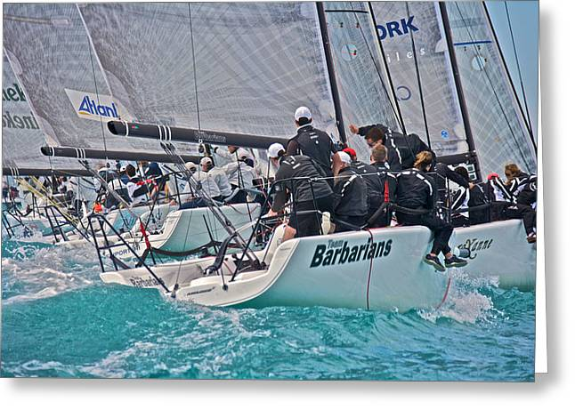 Melges Regatta Greeting Card by Steven Lapkin