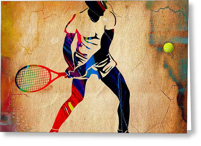 Mens Tennis Greeting Card