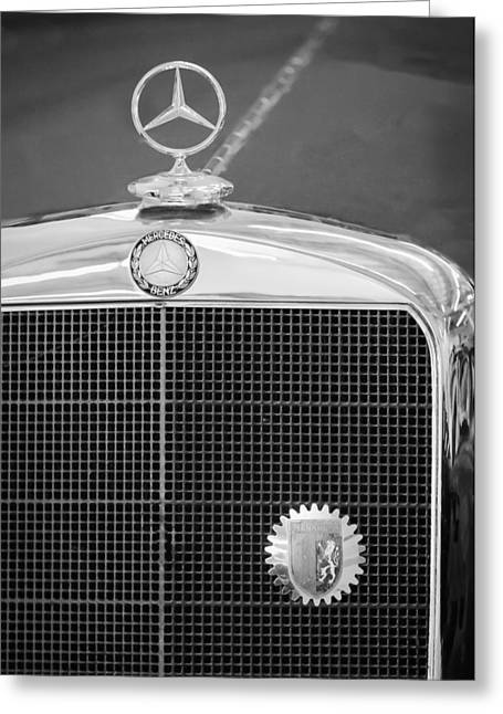 Mercedes-benz Hood Ornament - Emblem Greeting Card