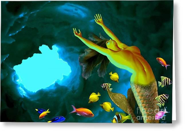 Mermaid Cave Greeting Card