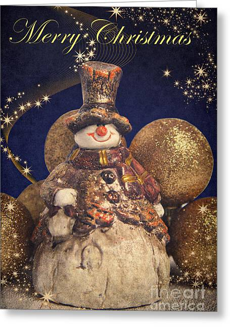 Merry Christmas Greeting Card by Angela Doelling AD DESIGN Photo and PhotoArt