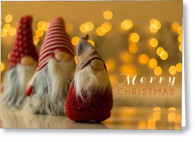 Merry Christmas Greeting Card Greeting Card by Aldona Pivoriene