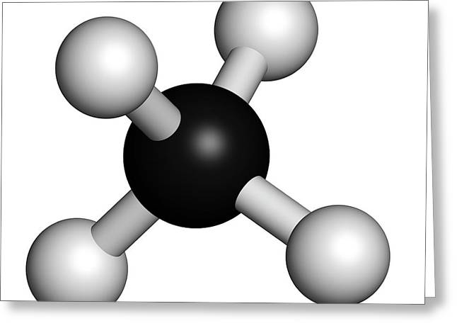 Methane Natural Gas Molecule Greeting Card by Molekuul